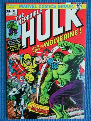 Incredible Hulk 181 - (nm -) - 1st Full App Of The Wolverine/high Grade - W/pgs