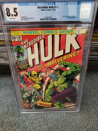Incredible Hulk 181 First Full Appearance Wolverine Cgc 8.  5