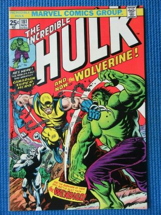 Incredible Hulk 181 - (nm -) - 1st Full Appearance Of The Wolverine -