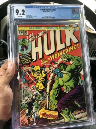 Incredible Hulk 181 Cgc 9.  2 White Pages 1st Appearance Of The Wolverine