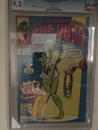 Sensational She - Hulk 40 Cgc 9.  2 (white Pages) Key Nude Issue