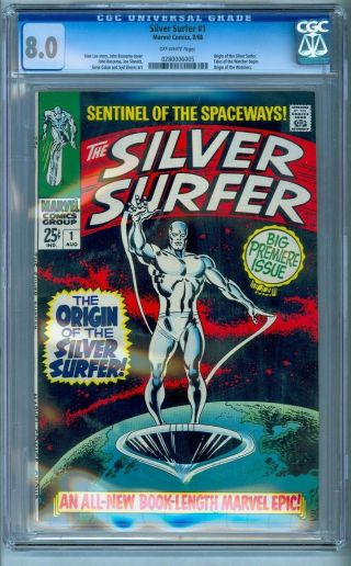 Silver Surfer 1 Cgc 8.  0 Bright Colors No Marks / Stamps Unpressed