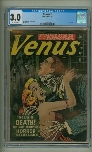 Venus 19 (cgc 3.  0) O/w Pages; Bill Everett; Golden Age; Atlas; 1952 (c 24524)