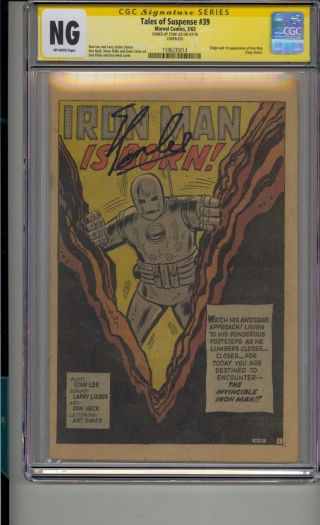 Tales Of Suspense 39 Cgc Ss Signed Stan Lee 1st Iron Man