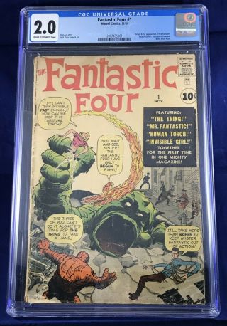 Fantastic Four 1 Cgc 2.  0 Huge Key