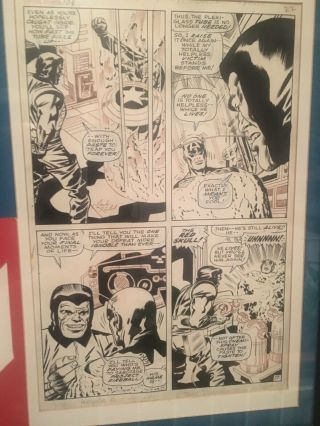 Jack Kirby Comic Art Captain America Silver Age