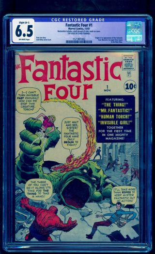 Fantastic Four 1 Cgc 6.  5 R Bright Colors Unpressed See Our 48 49 50
