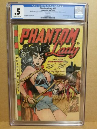 Phantom Lady 17 Cgc.  5 Classic Matt Baker Cover & Art Gga 1948 Fox