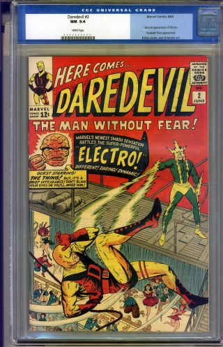 Daredevil 2 Cgc 9.  4 Nm White Pages Universal