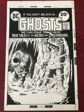 Ghosts 37 Art Hand Drawn Cover Luis Dominguez Dc Horror Bronze 1974