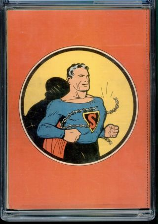 Superman 1 CGC NG Conserved coverless DC 1939 3rd most valuable comic GA Grail 2