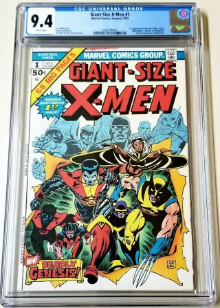Giant - Size X - Men 1 Cgc 9.  4 White Pages 1st X - Men 2nd Full Wolverine 1975