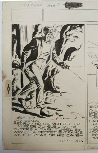ART,  ALEX RAYMOND,  JUNGLE JIM (1940 - 12 - 15) topper - format Sunday strip 2
