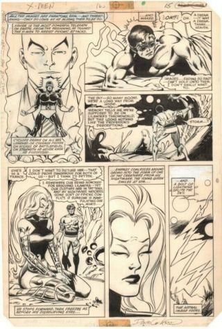 Dave Cockrum X - Men 163 Page 15 Art Featuring Storm And Cyclops