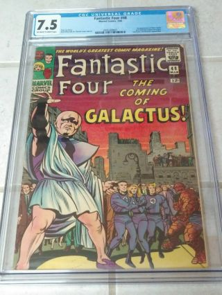 Fantastic Four 48 Cgc 7.  5 1st App Of Silver Surfer & Galactus Off - White To White