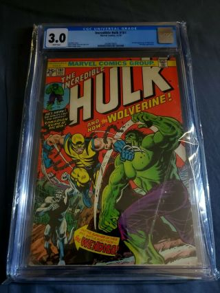 Incredible Hulk 181 Cgc 3.  0 White Pages W/ Mvs - Book