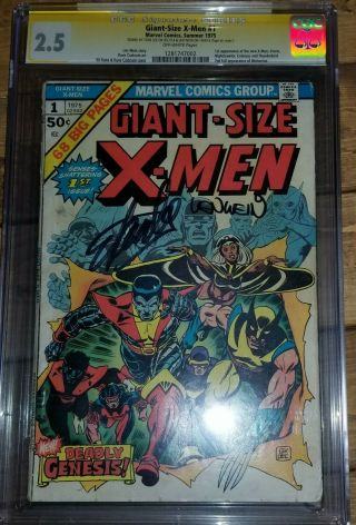 Giant Size X - Men 1 Cgc 2.  5 Signed By Len Wein & Stan Lee Great Book