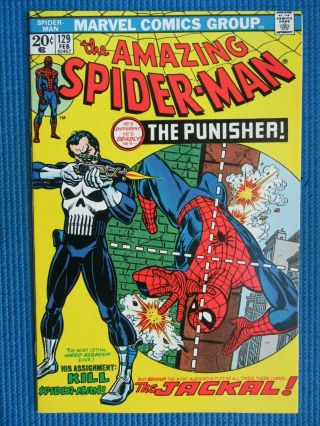 Spider - Man 129 - (nm, ) - 1st App Of The Punisher - - White Pgs