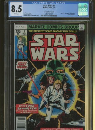 Star Wars 1 Cgc 8.  5 | Marvel 1977 | 35 Cent Price Variant.  Part 1 Of A Hope.