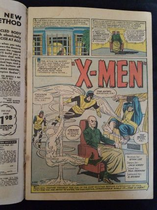 X - Men 1 Comic Book Silver Age 1963 First Appearance Of Magneto 10
