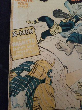 X - Men 1 Comic Book Silver Age 1963 First Appearance Of Magneto 4