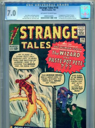 1963 Marvel Strange Tales 110 1st Appearance Doctor Strange Cgc 7.  0 Ow - W Box15