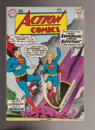 Action 252 Fn,  Key Comic 1st Appearance Of Supergirl & Metallo