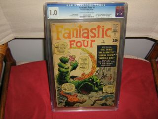 Fantastic Four 1 Cgc 1.  0 Cream To Off - White Pages 11/1961