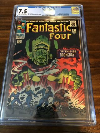 Fantastic Four 49 Cgc 7.  5 1st Full Galactus 2nd Silver Surfer