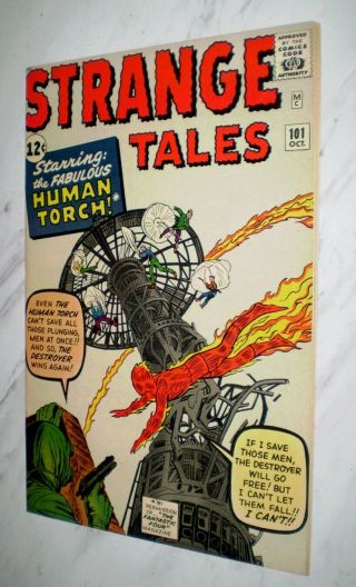 Strange Tales 101 Nm,  9.  6 White Pages 1962 Marvel Human Torch Stories Begin