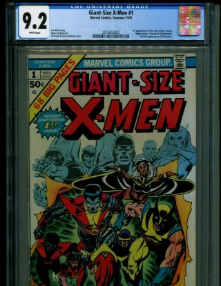 Giant Size X - Men 1 Gcc 9.  2 W/ White Pages Hottest Book Going Atm