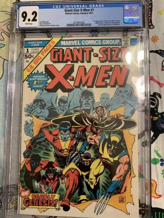 Giant Size X - Men 1 GCC 9.  2 w/ WHITE Pages HOTTEST BOOK GOING ATM 4