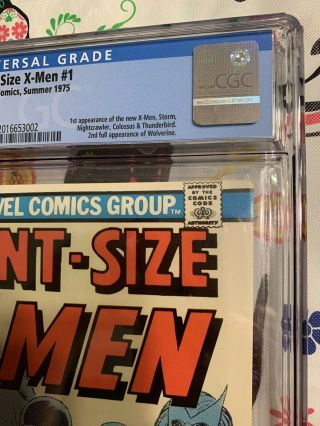 Giant Size X - Men 1 GCC 9.  2 w/ WHITE Pages HOTTEST BOOK GOING ATM 6