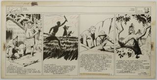 Art,  Alex Raymond,  Jungle Jim (1940 - 03 - 03) Topper - Format Sunday Strip