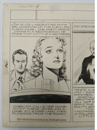 ART,  ALEX RAYMOND,  JUNGLE JIM (1940 - 10 - 06) topper - format Sunday strip 2
