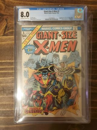 Giant Sized X - Men 1 Cgc 8.  0 1st Appearance Nightcrawler,  Storm And Colossus