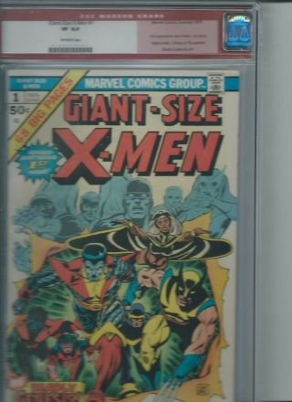 Giant Size X - Men 1 - Cgc 8.  0 Off White St App Storm Nightcrawler Colossus