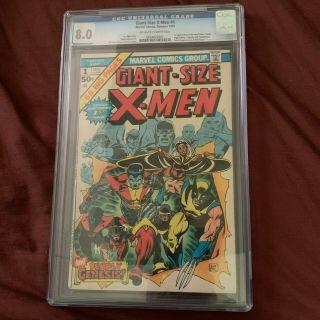 Giant Sized X - Men 1 Cgc 8.  0 2nd Full Wolverine App.