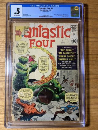 Fantastic Four 1 / Cgc 0.  5 / Off - White Pgs / Marvel Era Begins Here