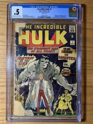 Incredible Hulk 1 / Cgc 0.  5 / Off - White Pgs / 1st Appearance Of The Hulk