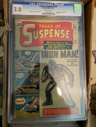 Tales Of Suspense 39 Cgc 3.  0 (mar 1963,  Marvel) Iron Man 1st App.