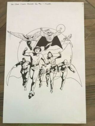 Jsa All - Star Comics Archives Vol.  6 Art Cover Lark Dc Conmics