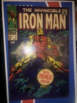 Iron Man 1 Double Cover (may 1968,  Marvel)