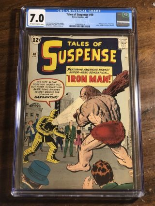 Tales Of Suspense 40 Cgc 7.  0 1963 2nd Iron Man After 39 Avengers