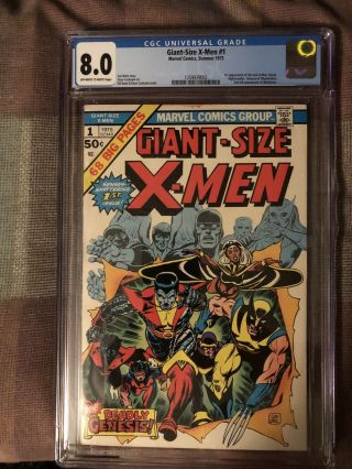 Giant - Size X - Men 1 Cgc 8.  0 Off White To White Pages