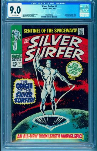 Silver Surfer 1 Cgc 9.  0 Bright No Marks See Our Fantastic Four 49