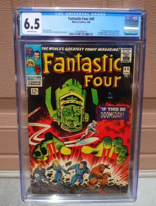 Fantastic Four 49 Cgc 6.  5 1st Appearance Of Galactus 1st Silver Surfer Cover 1