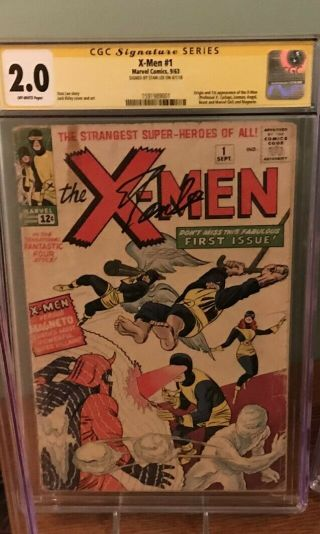 X - Men 1 1963 Cgc 2.  0 Stan Lee Signature Series 1st Appearance