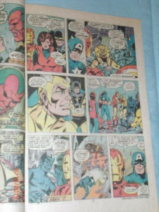 GEORGE PEREZ ART – THE AVENGERS ANNUAL 6 (YEAR 1976),  PAGE 3 10