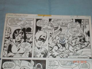 GEORGE PEREZ ART – THE AVENGERS ANNUAL 6 (YEAR 1976),  PAGE 3 2